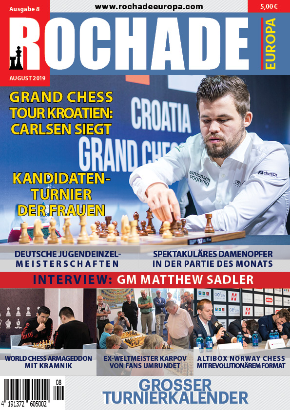 Rochade Schachzeitung 2019/08 Cover